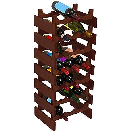 Wooden Mallet 21 Bottle Dakota Wine Rack Mahogany