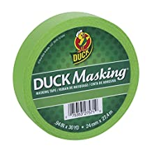 "Duck Masking 240882 Light Green Color Masking Tape, .94"" by 30 yd"