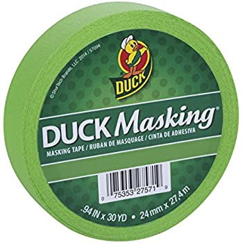 Duck Masking 240882 Light Green Color Masking Tape, .94-Inch by 30 Yards