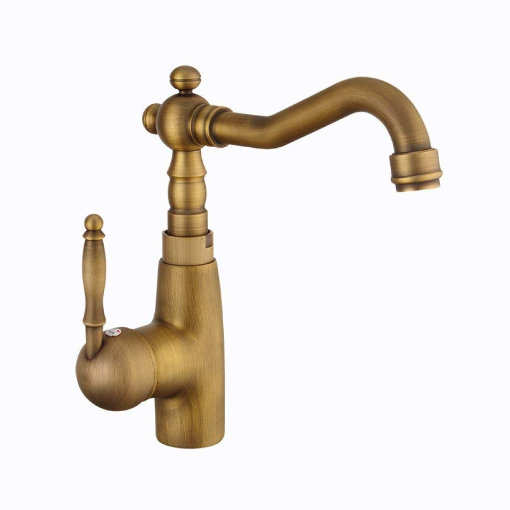 Faucet European kitchen faucet copper European hot and cold faucet sink sink retro faucet