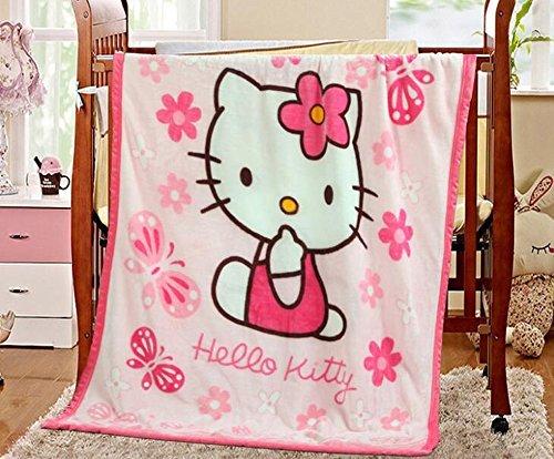 - Children's Cartoon Printing Blanket Coral Fleece Blanket 39 By 55 (Hello Kitty)