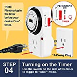 iPower 24 Hour Plug-in Mechanical Electric Outlet