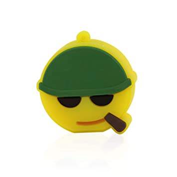 CHUYI Funny and Cute Soldier Emoji Emotion Expression Shape 32GB USB 2.0 Flash Drive Pendrive Memory Stick Lovely Thumb Drive Xmas Gift