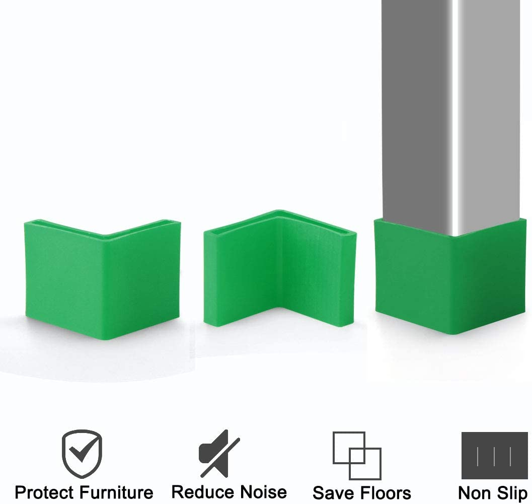 Sourcingmap 8 unidades Almohadillas de pl/ástico para patas de muebles en forma de L para evitar ara/ñazos en el suelo