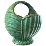 c1935 Arthur Wood Paris Shape Handled Basket Planter