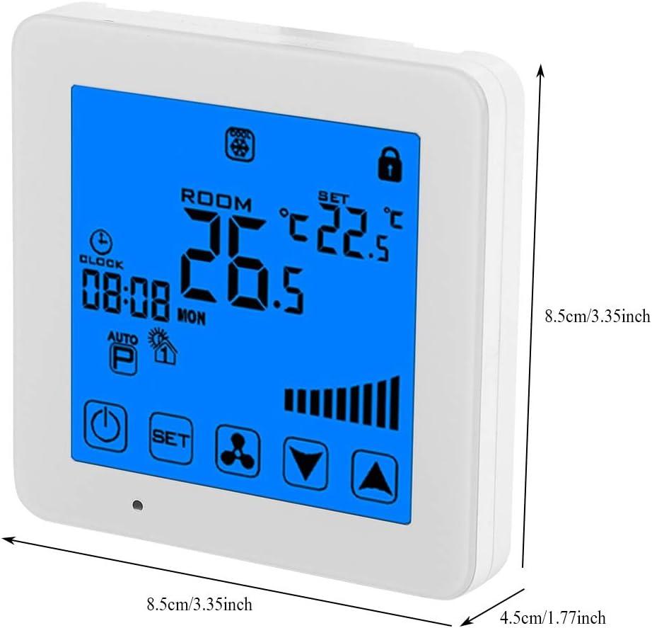 LCD Pantalla t/áctil Termostato Aire Acondicionado Controlador de Temperatura AC 220V Art/ículos para el hogar