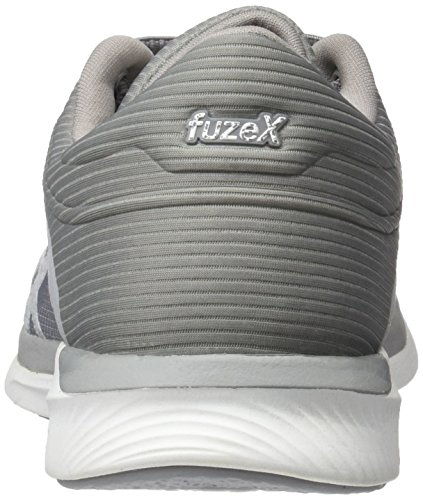 silver Fuzex De Running Rush mid Blanc Grey Chaussures Femme Asics white 8oHwd4qt8x