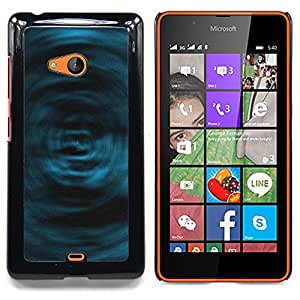 Blue Swirls Caja protectora de pl??stico duro Dise?¡Àado King Case For Microsoft Nokia Lumia 540 N540
