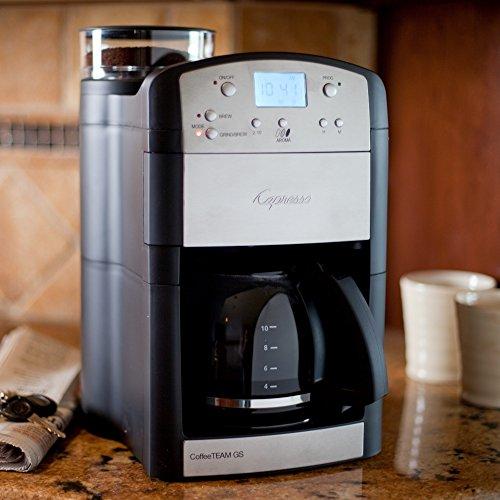 Jura Capresso CoffeeTEAM GS 10 Cup Grind & Brew (Capresso 565 Grinder compare prices)