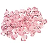 CYS EXCEL 1 Pound Translucent Pink Ice Rocks for Vase Fillers or Table Scatter