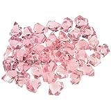 1 Pound Translucent Pink Ice Rocks for Vase Fillers or Table Scatter
