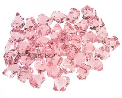 CYS EXCEL Acrylic Ice Rocks for Vase Fillers, Acrylic Gems for Table Scatters, Event, Wedding, Birthday Decoration (Acrylic Ice Pink, 1 ()