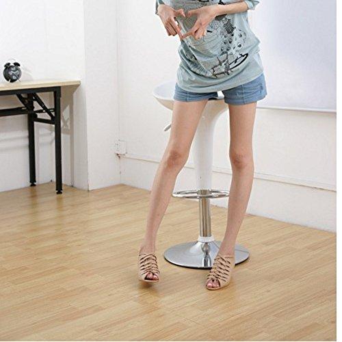 Women Shoes apricot Heel Sandals Gladiator TAOFFEN Casual Peep Toe Hidden Wedge pwaBqdCBx