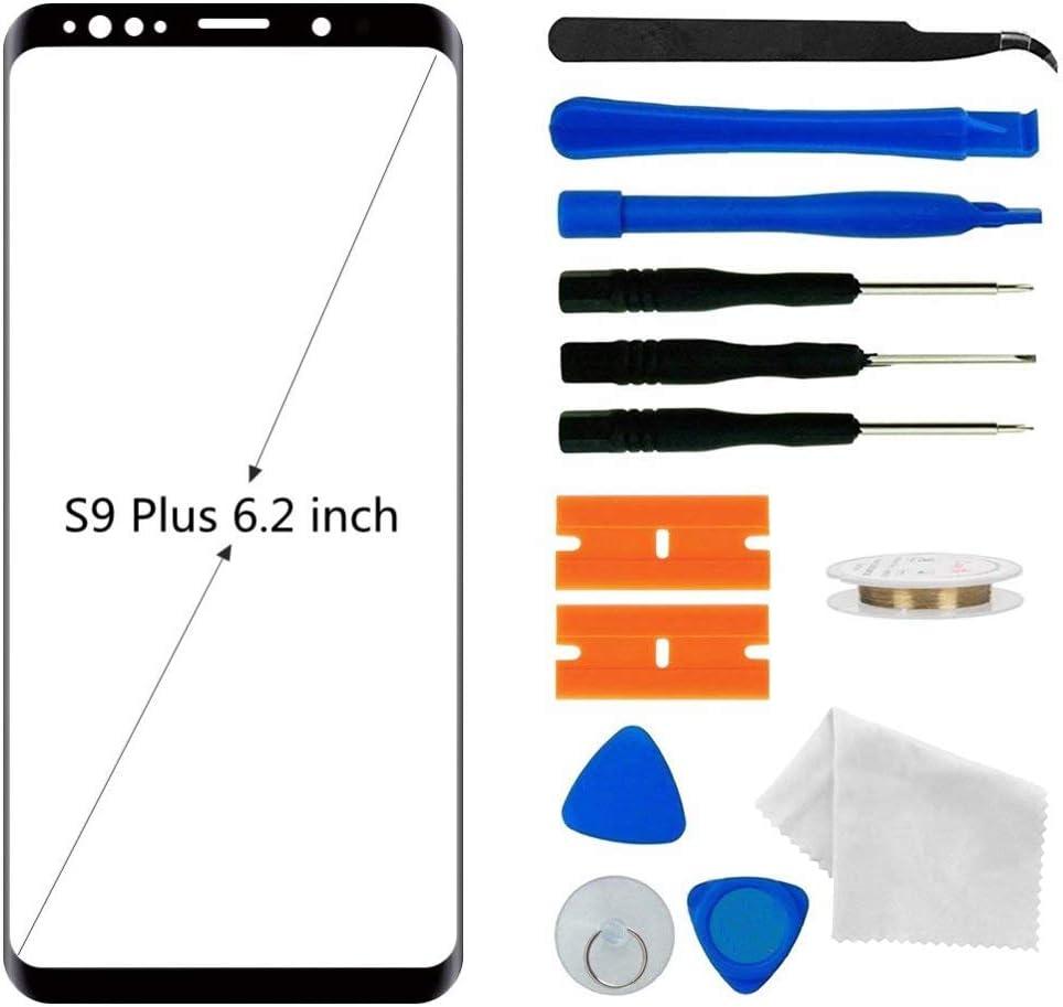 Vidrio exterior frontal para Samsung S9 Plus G965 6 Negro