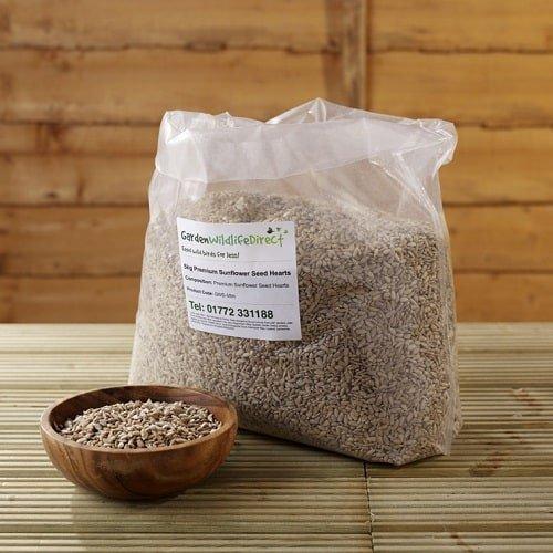 25Kg Premium Sunflower Hearts - Garden Wildlife Direct Wild Bird Food GW-25-9044