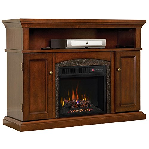 ChimneyFree Lynwood Electric Fireplace Entertainment Center in Vintage Cherry – 18MM4105-C233 For Sale