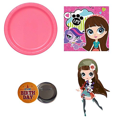 Littlest Pet Shop Birthday - Littlest Pet Shop Party Pack for 16 guests, plates and napkins, jumbo balloon