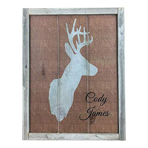 - Personalized Deer Head Wood Sign