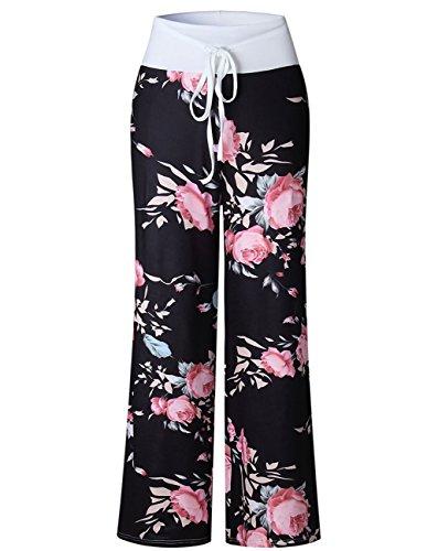 2c67392e0d Buauty Womens Cotton Lounge Pants Summer Boho Printed Pajama Yoga Palazzo  Loose Sweatpants S-3XL