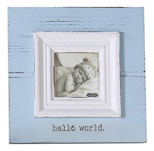 Mud Pie Baby Photo Frame, Hello World/Blue