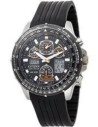Citizen #JY0000-02E Men's Eco Drive Polyurethane Strap Skyhawk Atomic Time Watch