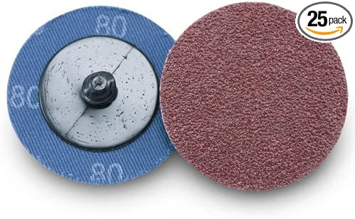 "2/"" 80 Grit A//O Quick Change Sanding Disc Black Hawk Type R Roloc 100 Pack"