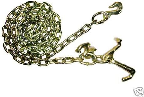 Grade 70 BA Products Ships in 1 to 2 Business Days N711-GCL10 10 Wrecker Tow Truck Chain with Cluster Hook