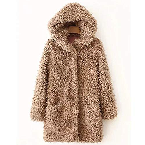 Inverno Giacca Outwear Soprabito In Parka Piumino Pelliccia Jacket Caldo Khaki Fashion Outercoat Casual Artificiale Cappotto Donna Morwind BXwUxSvx