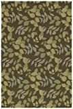 Kaleen Rugs Home and Porch Collection 2005-51 Coffee Handmade 3'X5′ Rug