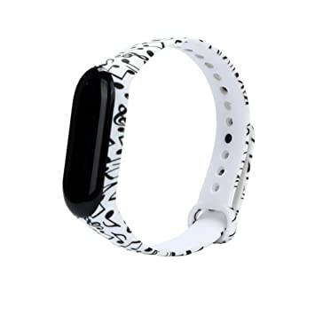 Fossrn para Xiaomi Mi Band 3, Silicona Correa de Reloj Reemplazo de Bandas Coloridas Imprimir Banda para Xiaomi Mi Band 3 Bracelet (F): Amazon.es: Deportes ...