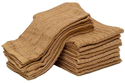 Sammy Mills 12 PC, 100% cotton, Bar Mop Kitchen Towel, (16''x19'') (beige) by Sammy Mills