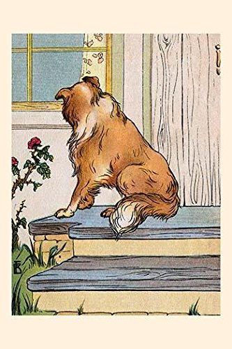 (The collie relegated to the outside watches helplessly as the family plays with another pet inside An illustration from a series of childrens books which came free with the Public Ledger newspaper Po )