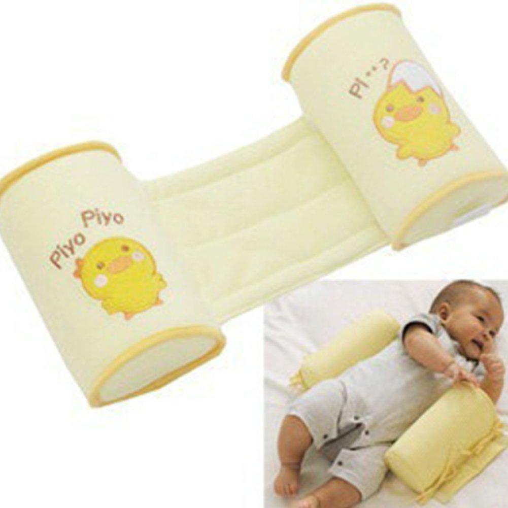 Baby/iSuper Baby Sleeping Head Support Pillow Anti roll–Flat Head for Newborns Yellow Chicken