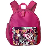 Children Space Preschool Travel Camping Backpack Pink
