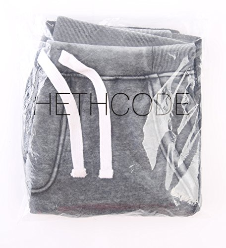 HETHCODE Men's Casual Classic Fit Cotton Elastic Fleece Jogger Gym Shorts Burnout Gray XL by HETHCODE (Image #3)
