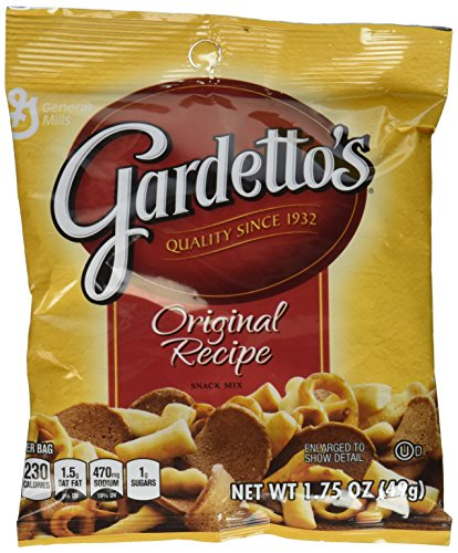 Gardetto Original Recipe Snack Mix, 1.75-Ounce Packages (9 Pack) Small Storage Space Friendly! ()
