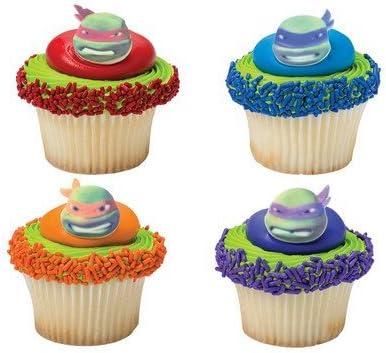 Bundleofbeauty Gh5510a 12pack Edible Sugar Shaped TMNT Teenage Ninja Turtles Cake / Cupcake Toppers
