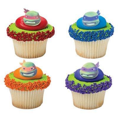 (Bundleofbeauty Gh5510a 12pack Edible Sugar Shaped TMNT Teenage Ninja Turtles Cake / Cupcake)