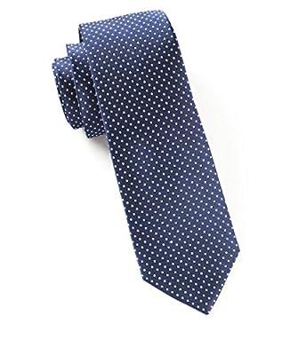 """100% Woven Silk Navy Pindot 3"""" Tie"""