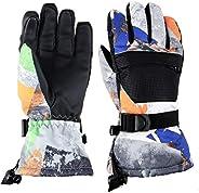 TRIWONDER Kids Winter Snow Gloves Waterproof Windproof Children Snowboard Ski Gloves for Boys Girls