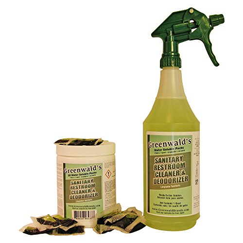 [Greenwald's Sanitary Restroom Cleaner - Includes Bonus Refill Packet and Professional Spray Bottle - 20 Count] (Austin Modern Chair)
