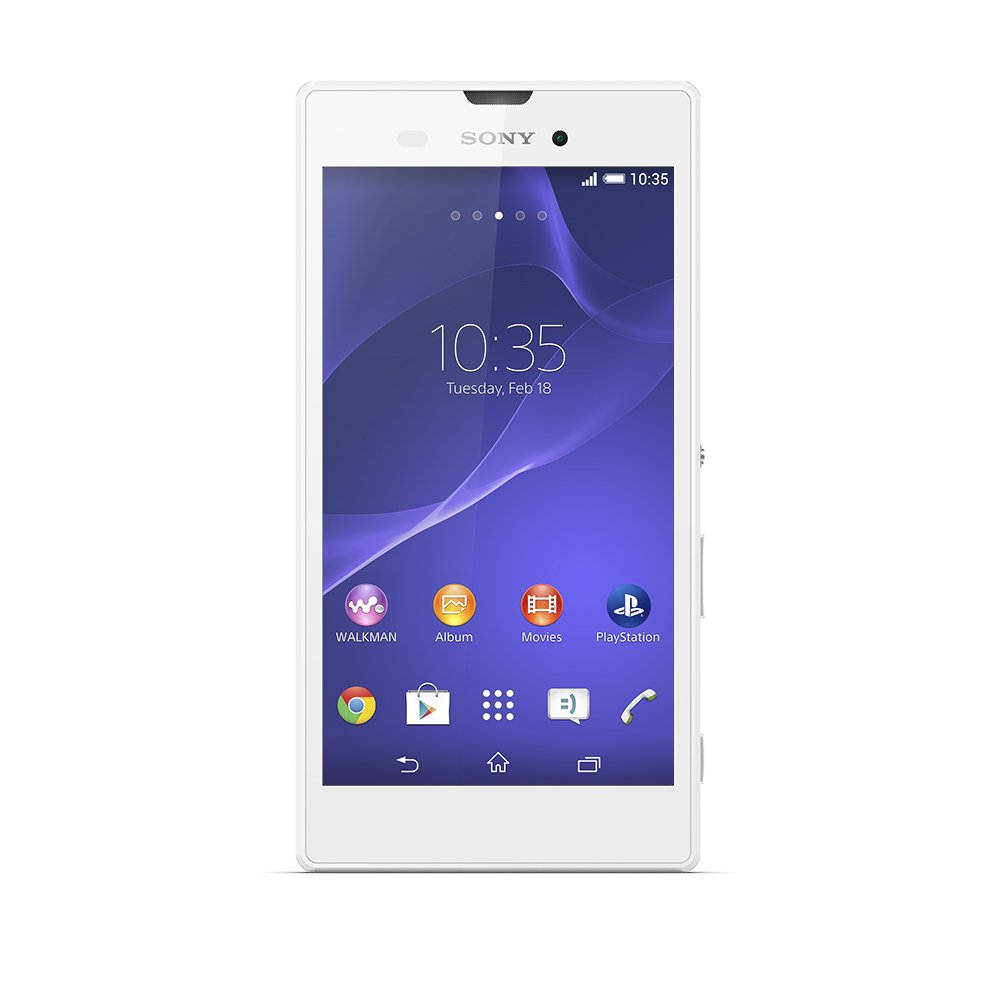 Sony Xperia T3 HSPA+ D5102 Unlocked GSM Android Smartphone - Retail Packaging - White