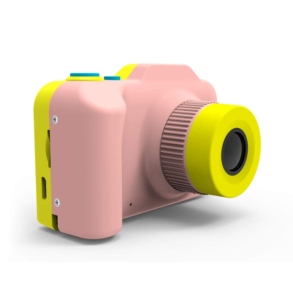 [Upgraded]Kids Camera 1080P Rechargeable Digital Front and Rear Selfie Camera Child Camcorder for Outdoor Play, for 3-10 Years Old Children(Barbie Pink)
