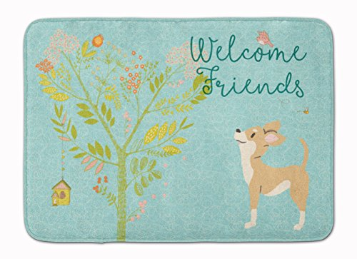 Brown Chihuahua - Caroline's Treasures Welcome Friends Brown White Chihuahua Floor Mat, 19hx27w, Multicolor