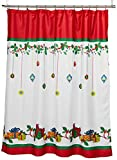 Lorraine Home Fashions Gift Box Shower Curtain, 70 by 72-Inch, Multicolored