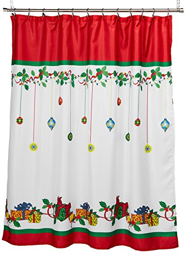 LORRAINE HOME FASHIONS Gift Box Shower Curtain, 70 by 72-Inch, Multicolored - Measures 70-inch x 72-inch Fabric Content: 100-Percent Polyester Machine wash, warm water, gentle cycle; Do not bleach; Line dry; Warm iron as needed - shower-curtains, bathroom-linens, bathroom - 51TabGxDqtL -