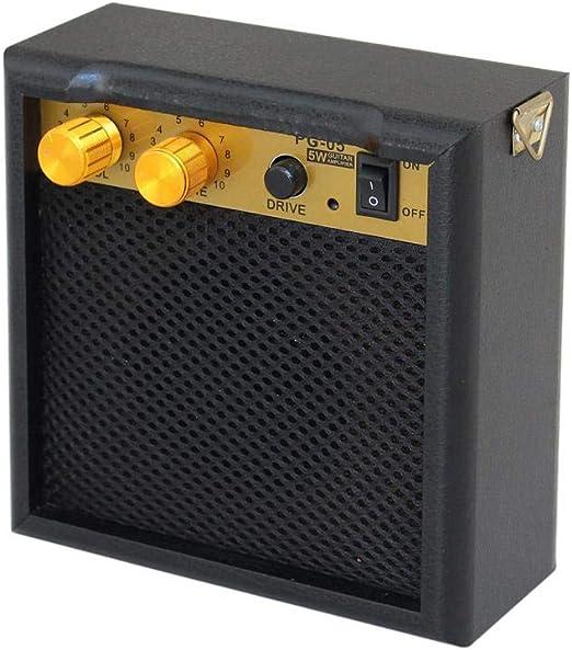 Tenlso Mini Amplificador de Guitarra Portátil Amplificador de Bajo ...