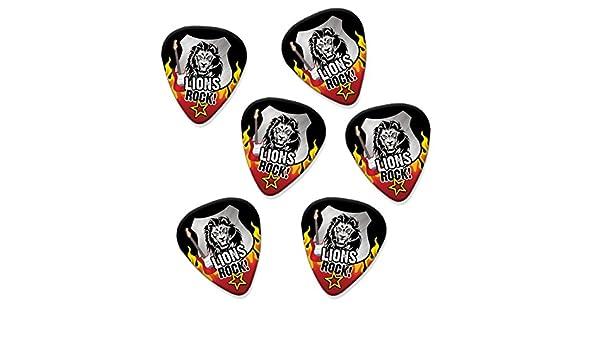 Amazon.com: Lion Lions Rock 6 X Guitar Picks Plectrums (R1): Musical Instruments