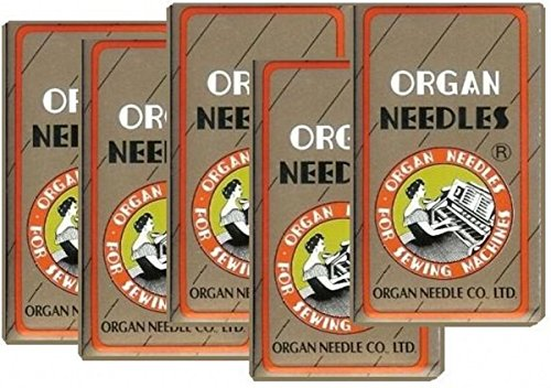 - 50 Pieces HOME SEWING MACHINE NEEDLES ASSORTMENT (ORGAN 15X1 SIZE#9,11,14, 16, 18) 10pcs per size