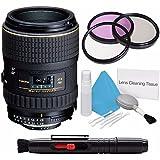 Tokina 100mm f/2.8 AT-X M100 AF Pro D Macro Autofocus Lens for Nikon AF-D (International Model) No Warranty+Deluxe Cleaning Kit + Lens Cleaning Pen + 55mm UV Filter Bundle 3